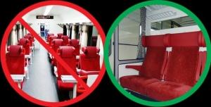Proti plošnému zavedení vozů ABpee - za obnovení kupé v 1. třídě na trati R10