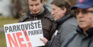 Petice za zachování parku v Novém Boru