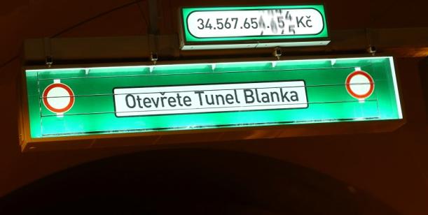 Petice za otevření tunelu Blanka