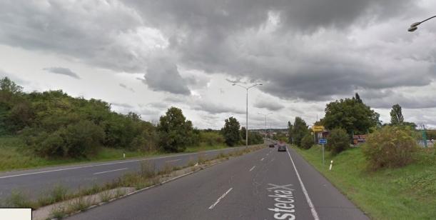 Uvolnění levého pruhu silnice II/608 od hranice obce Zdiby a Praha - řešení dopravní situace