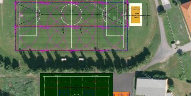 Výstavba nového multifunkčního hřiště na TJ Hrádek