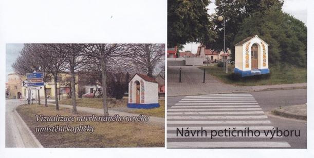 Petice na podporu umístění kapličky Všech svatých na důstojném místě v blízkosti Veselské brány