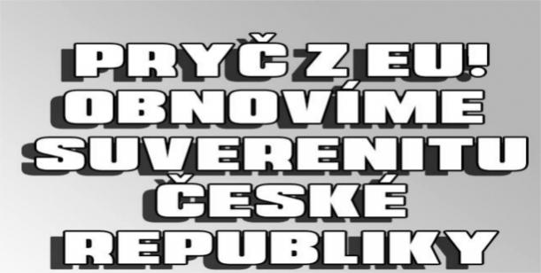Petice za vypsání celostátního referenda o vystoupení České republiky z Evropské unie