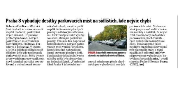 Petice  za zachování stávající zeleně ve Feřtekově ulici, Praha-Bohnice