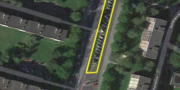 Petice za zachování parkování na zastávce autobusu Terasa konečná
