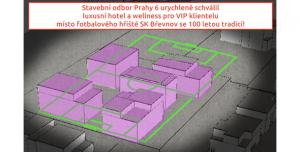 PETICE proti výstavbě hotelu na místě fotbalového stadionu Břevnov