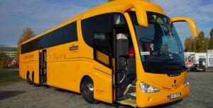 Petice za možnost využívat autobusy Student Agency mezi Třebíčí a Velkým Meziříč