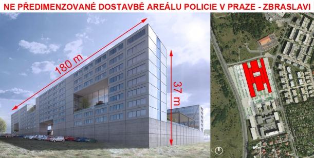 NE předimenzované dostavbě areálu policie v Praze – Zbraslavi