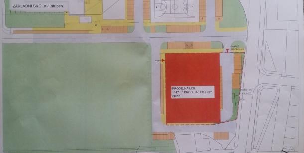Petice proti plánované výstavbě supermarketu LIDL na místě bývalé Barumky v katastru Žalov
