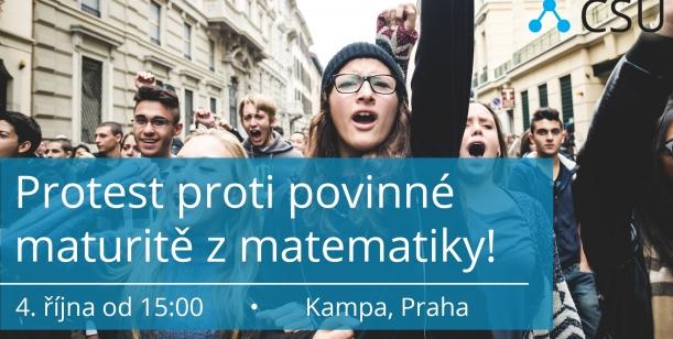 Petice středoškoláků pro zastavení povinné maturity z matematiky!