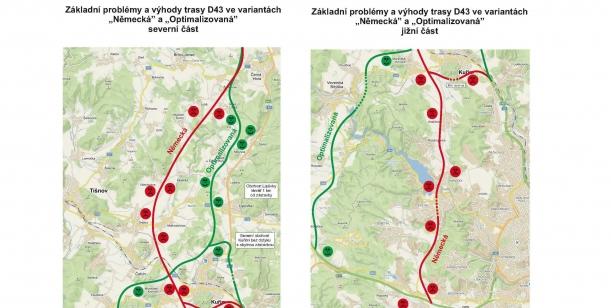 Petice občanů za realizaci komunikace D43 jako plnohodnotného obchvatu celého Brna