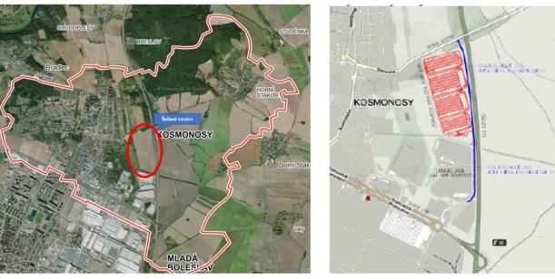 Petice proti záměru výstavby čtyř logistických hal v katastru města Kosmonosy.