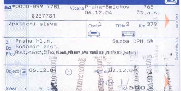 Petice proti zrušení zpáteční jízdenky na vlak