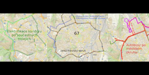 Reorganizaci linky 67 za  zvýšení dopravního komfortu MČ Jundrov a snížení smogové stopy