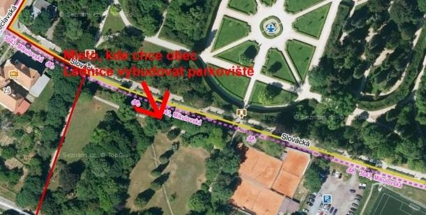 NE parkovišti v parku!