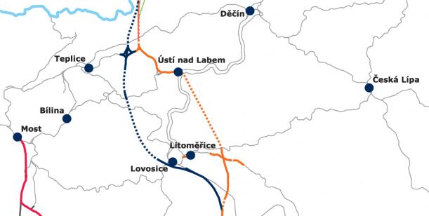 Za vysokorychlostní trať přes Ústí nad Labem - západ