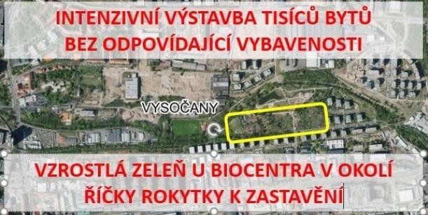 Petice proti nekoncepční masivní výstavbě v oblasti Vysočany/Hloubětín na úkor zeleně a vybavenosti