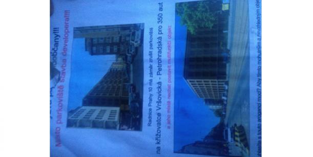 Petice proti návrhu záměru M.Č. Prahy 10 na směnu pozemků (P10-051964/2014) - rušení parkoviště