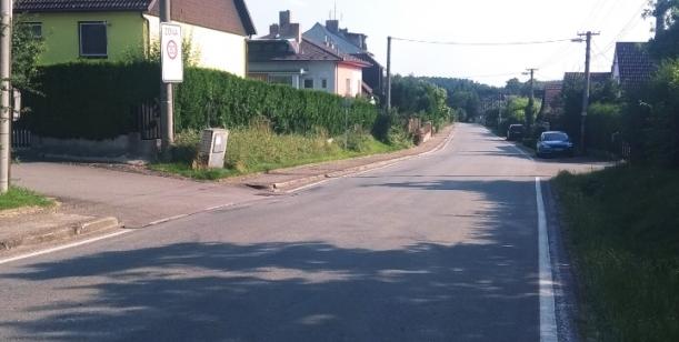 Přechod pro chodce v Sudoměřicích u Bechyně