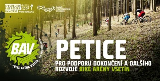 Petice pro podporu dokončení a dalšího rozvoje Bike arény Vsetín