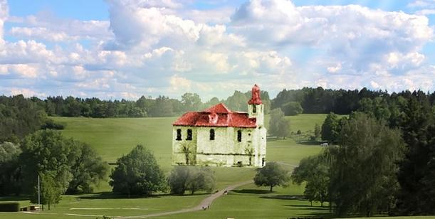 Přímluva za obnovení původního barokního kostela svatého Martina v Lidicích